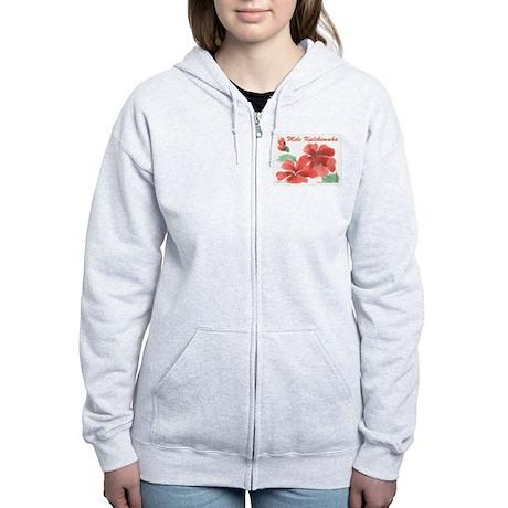 Hawaiian Hibiscus Women's Zip Hoodie