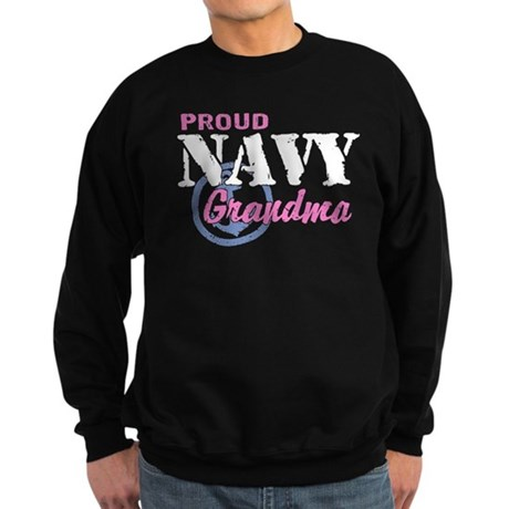 Proud Navy Grandma Sweatshirt (dark)