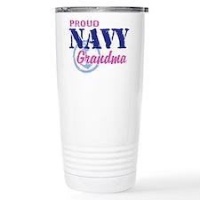 Proud Navy Grandma Travel Mug