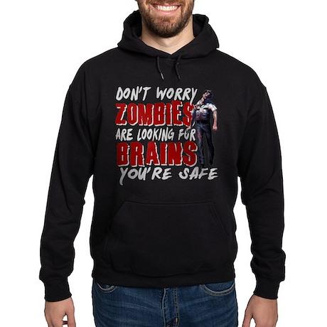 Zombie Brains - You're Safe Hoodie (dark)