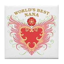 World's Best Nana Tile Coaster