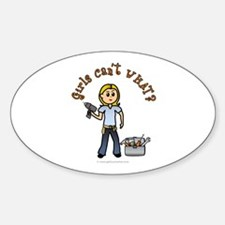 Blonde Do-It-Yourself Sticker (Oval)