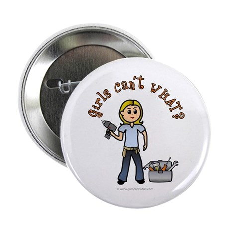 """Blonde Do-It-Yourself 2.25"""" Button"""