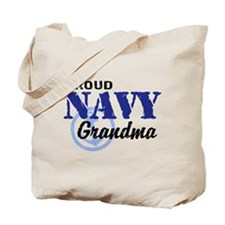 Proud Navy Grandma Tote Bag