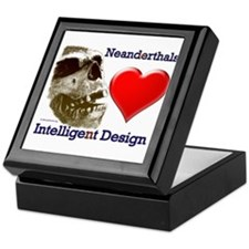 Neanderthals (Heart) Intelligent Design Tile Box