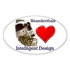 Neanderthals (Heart) Intelligent Design Decal