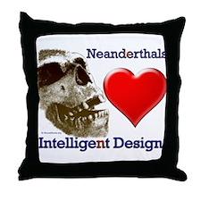 Neanderthals (Heart) Intelligent Design Throw Pill