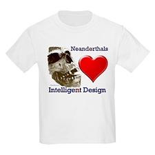 Neanderthals (Heart) Intelligent Design Kids T-Shi