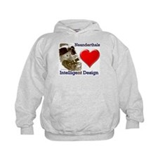 Neanderthals (Heart) Intelligent Design Hoodie