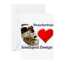 Neanderthals (Heart) Intelligent Design Greeting C