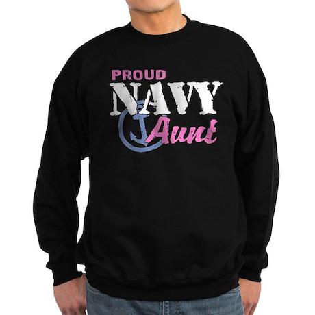 Proud Navy Aunt Sweatshirt (dark)
