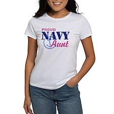 Proud Navy Aunt Tee