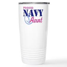 Proud Navy Aunt Travel Mug