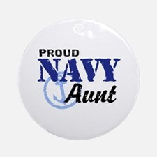 Proud Navy Aunt Ornament (Round)