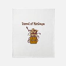 BARREL OF MONKEYS Throw Blanket