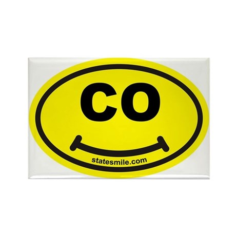 CO State Smile(TM) Rectangle Magnet (10 pack)
