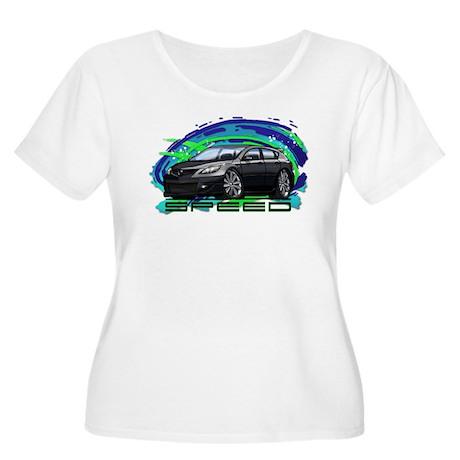 Black Speed3 Women's Plus Size Scoop Neck T-Shirt