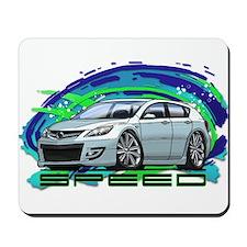 White Speed3 Mousepad