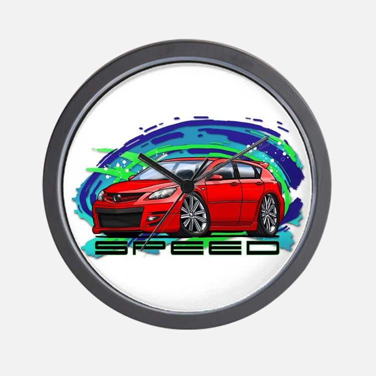 Red Speed3 Wall Clock