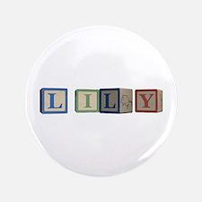 "Lily Alphabet Block 3.5"" Button (100 pack)"