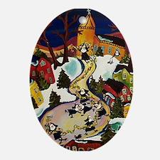 NUN CAPADES FOLK ART Ornament (Oval)