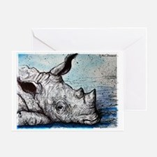 Wildlife, Rhino, Greeting Card
