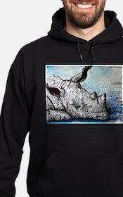 Wildlife, Rhino, Hoodie (dark)