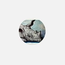 Wildlife, Rhino, Mini Button