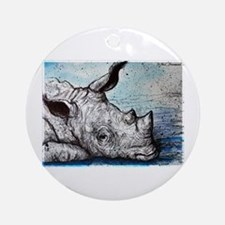 Wildlife, Rhino, Ornament (Round)