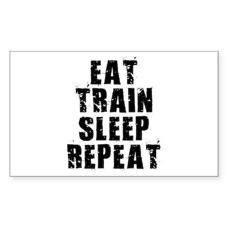 Eat, Train.... Sticker (Rectangle)