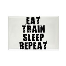 Eat, Train.... Rectangle Magnet
