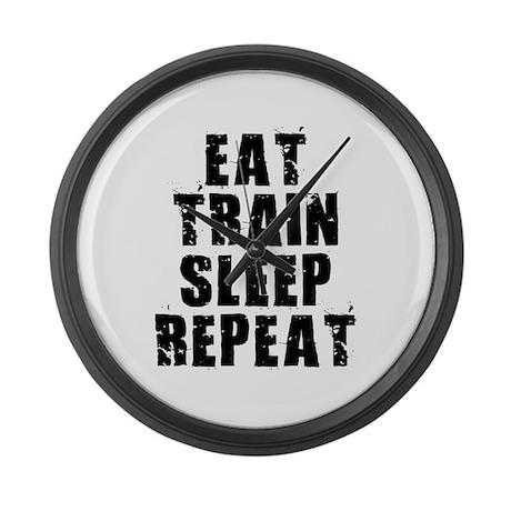 Eat, Train.... Large Wall Clock