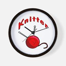 Knitter Wall Clock