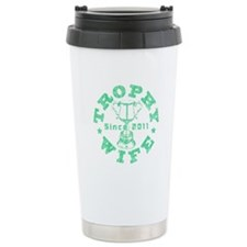 Trophy Wife Since 2011 mint green Travel Mug