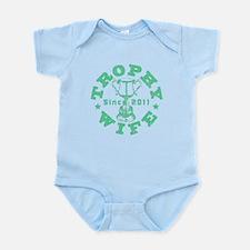 Trophy Wife Since 2011 mint green Infant Bodysuit