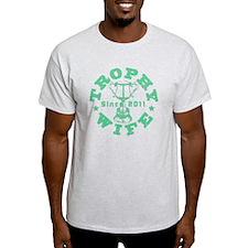 Trophy Wife Since 2011 mint green T-Shirt