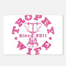 Trophy Wife Since 2011 pink Postcards (Package of