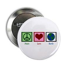 """Peace Love Earth 2.25"""" Button"""