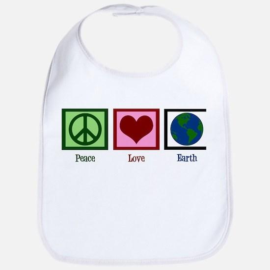 Peace Love Earth Bib