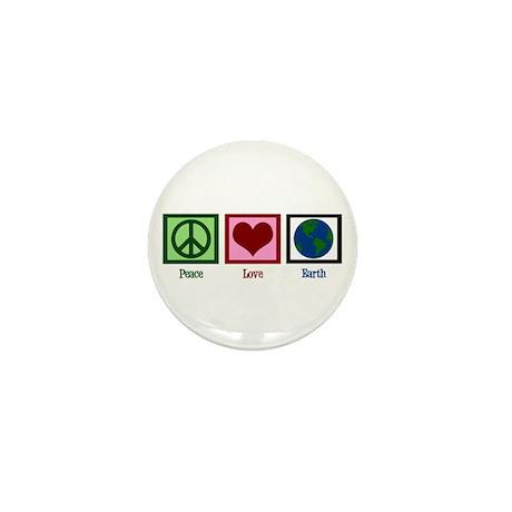 Peace Love Earth Mini Button