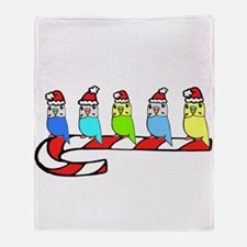 Cute Santa budgie Throw Blanket