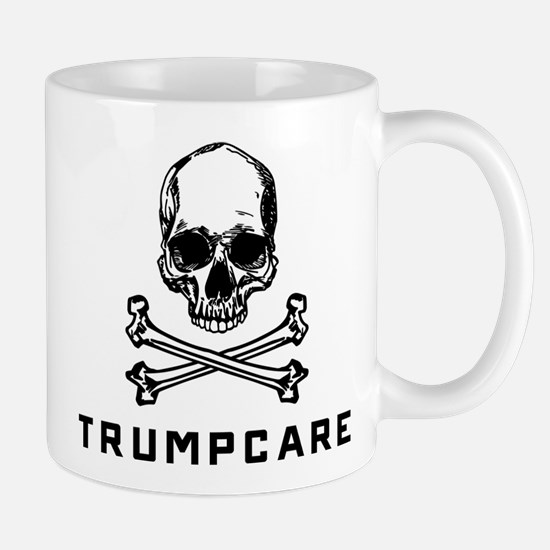 Skull and Crossbones Trumpcare Mug