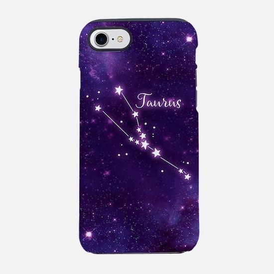 Taurus Zodiac Constellation iPhone 7 Tough Case