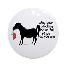 Horse full 2 Ornament (Round)
