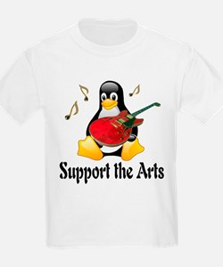 Support The Arts Cute Penguin T-Shirt