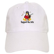 Support The Arts Cute Penguin Baseball Cap