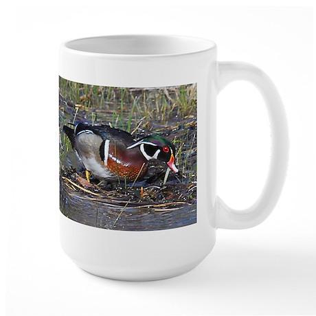 Wood Duck Pair Large Mug