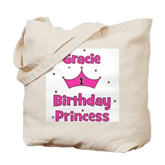 1st Birthday Princess Gracie! Tote Bag