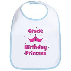 1st Birthday Princess Gracie! Bib