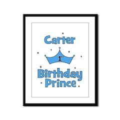 1st Birthday Prince Carter! Framed Panel Print